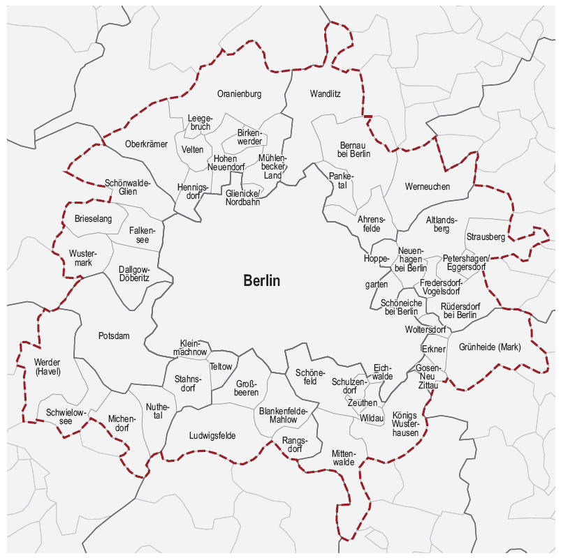 Berlin Potsdam Karte.Archiv Verordnung über Den Landesentwicklungsplan Berlin